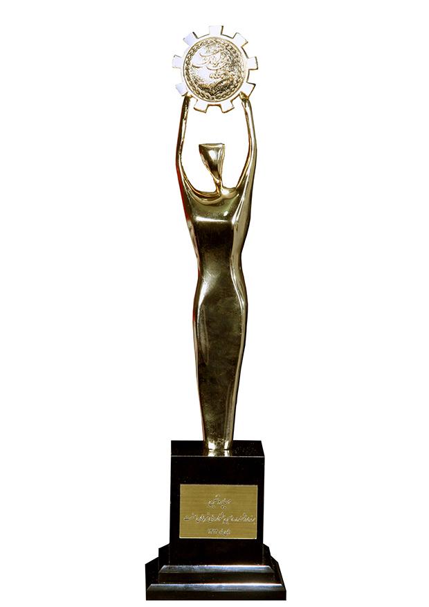 تندیس دهمین جشنواره ملی قهرمانان صنعت
