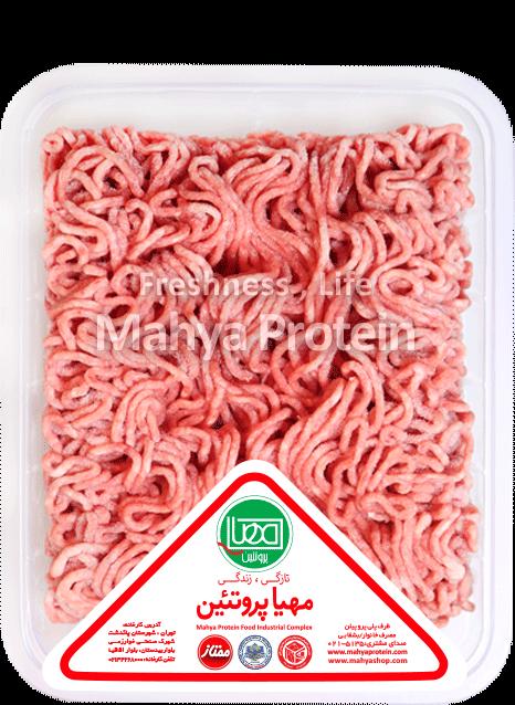 گوشت چرخکرده مخلوط منجمد