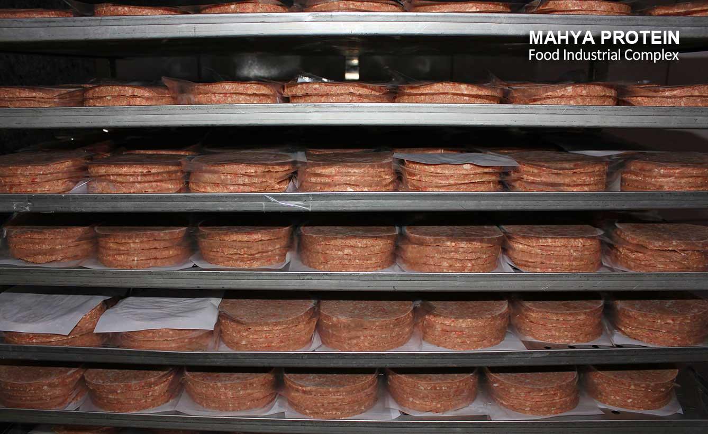 همبرگر تولید شده