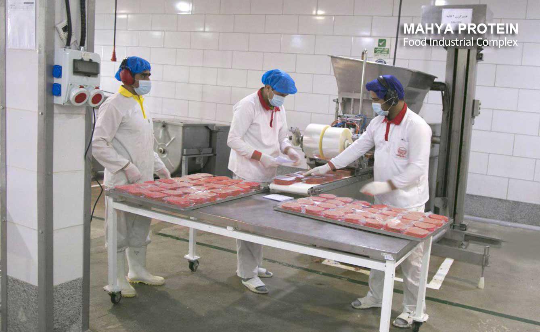 چیدمان همبرگر تولیدشده