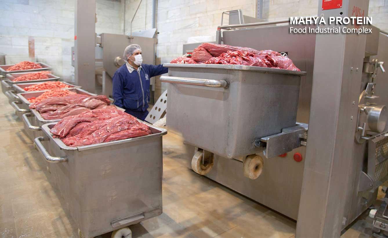 تولید گوشت چرخکرده